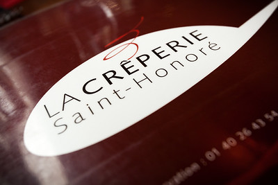 Valerie and I grab lunch at La Crêperie Saint Honoré