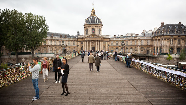 Institut de France lies at the end of Pont des Arts