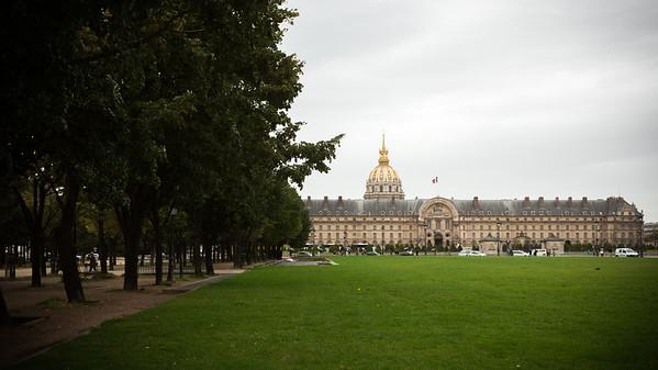 From Assemblée Nationale, we walk along Rue de l'Université past Les Invalides
