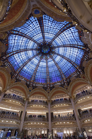 Taking shelter from the rain inside Galeries Lafayette is dangerous...to ones' wallet.