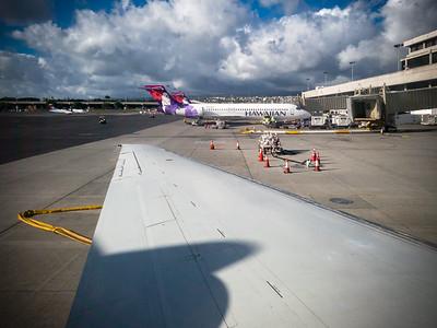 We have returned to Honolulu International Airport...