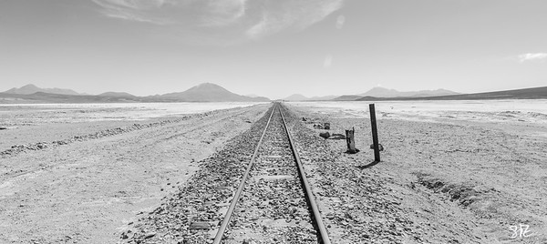 Tracks on the altiplano