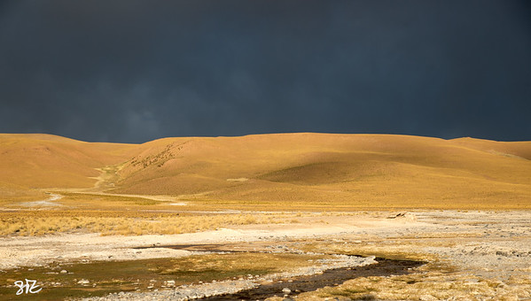 evening light on the altiplano