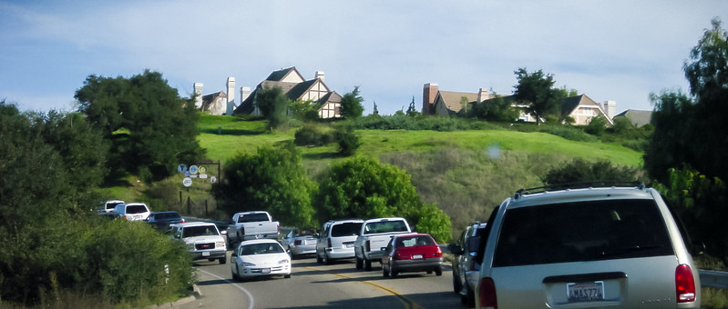 Apparently, Solvang is a popular destination (Photo by Valerie Iwasaki)