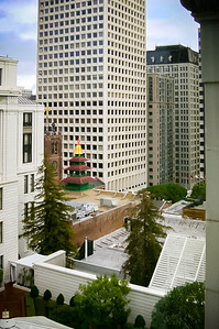 The hotel's proximity to Chinatown is evident from our room