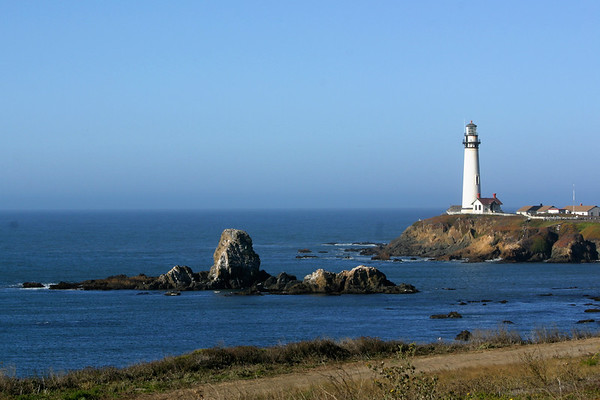 The Pigeon Point Lighthouse is the first and only stop we make during our drive from Half Moon Bay to Monterey