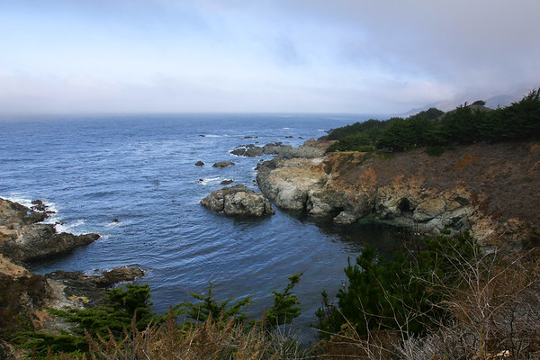 With plans to spend most of Wednesday in in San Simeon and Cambria, we leave Monterey without our morning coffee!