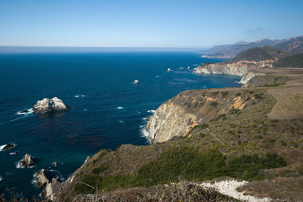After continuing towards Big Sur, we stop at a hill overlooking a different bridge
