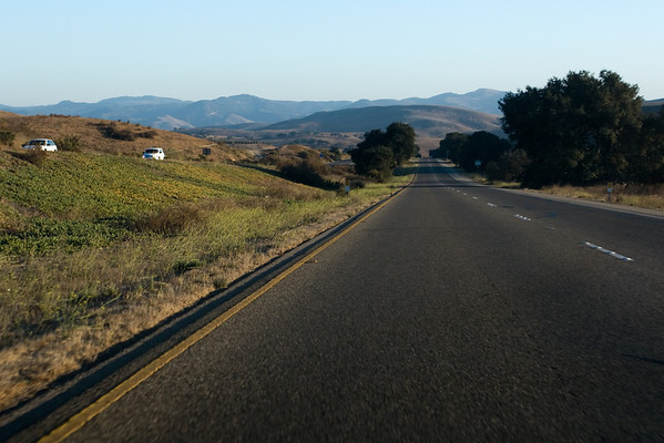 Southbound on Highway 101...traffic isn't too bad