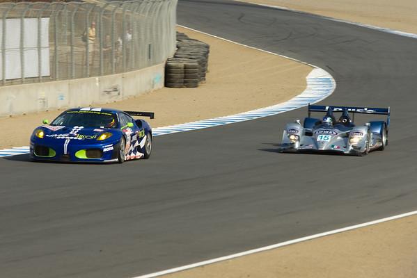 #99 JMB Racing Ferrari F430 GT and #15 Lowe's Fernandez Racing Acura ARX-01b