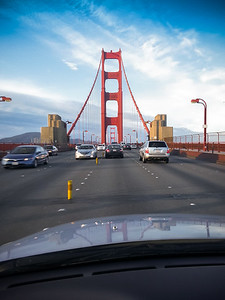 Google Navigation's traffic layer suggests we should head to Point Richmond across the Golden Gate Bridge rather than the Bay Bridge