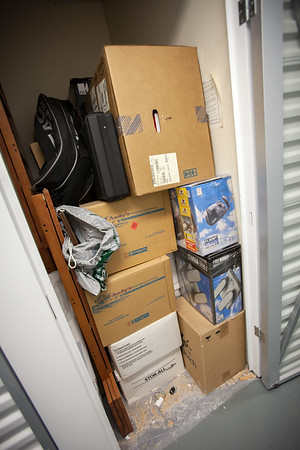 We quickly inspect the contents of the locker and estimate that everything will fill the Pilot...but this is not everything he stored in the Bay Area.  When we reach Craig's place (where we will be staying this weekend), we will learn what else Henri had.