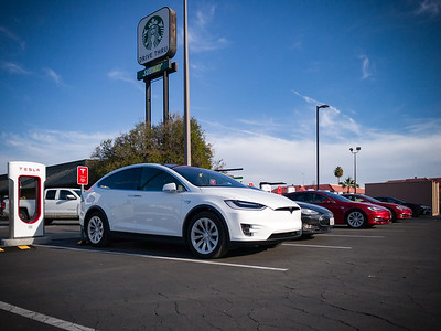This is the first time I plug in our Model X at a Tesla Supercharger.  We took delivery of ours ahead of Tesla's announcement that free access to their charging network would become limited for cars produced after January 1st, 2017.  We plan to take full advantage of this perk...a benefit of being an early-ish adopter