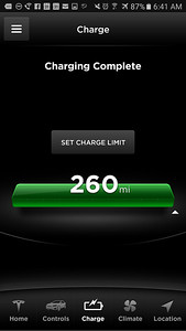DAY 0 - I have fully charged our EV in anticipation of our road trip (for regular commuting, Tesla recommends capping the Model X's 90kW battery's charge around 233 miles to extend the life of the battery, but we'll need maximum range today)