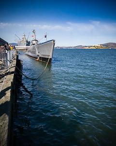 SS Jeremiah O'Brien, USS Pampanito, and Alcatraz from Pier 44