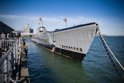 USS Pampanito and SS Jeremiah O'Brien at Pier 44