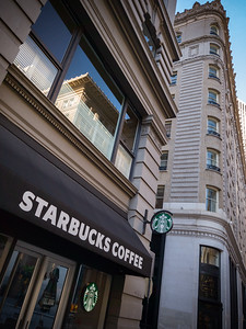 We're so close to a Starbucks, but don't need it...fresh coffee is provided for guests in the hotel's lobby every morning