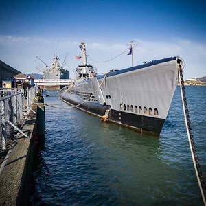 SS Jeremiah O'Brien, USS Pampanito, and Alcatraz from Pier 44 (Instagram version)