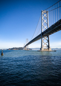 I cross back under the Bay Bridge