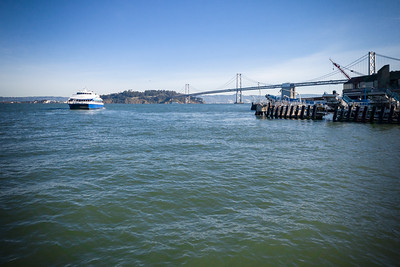 A ferry departs from the Port of San Francisco
