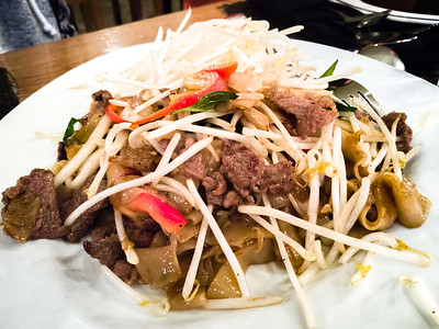 Of course we order family style...my contribution, as usual, is pad kee mao with beef