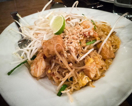 Valerie selects pad thai with shrimp since Mai expressed interest in ordering it, but...
