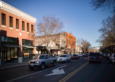 Crossing Main Street in Saint Helena