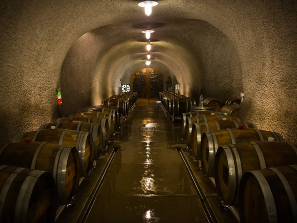 The winter air is very dry, so winemakers must hose down their oak barrels to prevent evaporation through the wood
