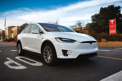 """Ironically, asking my Model X's nav system to """"Drive to Tesla Headquarters"""" did not actually get me here.  Valerie had to look up the address."""