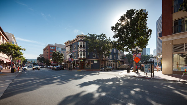Fifth Avenue and J Street in Gaslamp.  The Pendry would be a great place to stay when attending events at the San Diego Convention Center!