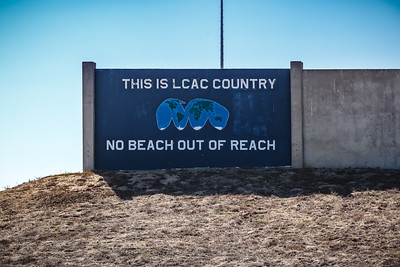 Driving by Camp Pendelton...apparently LCAC stands for Landing Craft Air Cushion.  Assault Craft Unit 5 is stationed here.
