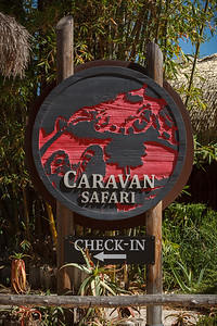 First order of business...we must check in for our Caravan Safari