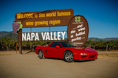 I am not sure we even drove by the Welcome to Napa Valley sign during NSXPO 2003, but I decided I would not miss this photo op this time around.  Valerie and I posed for a photo here in 2016, but we weren't driving.  Will getting a photo with our Model X be on my to do list in 2031?