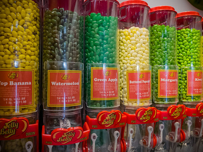 Watermelon is one of the first flavors I remember trying when I was a kit.  I was never a fan of generic jelly beans, but Jelly Belly beans are on another level.  And this store has a sample bar so we can try some of the flavors we have never seen before.