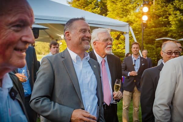 Ted Klaus standing with NSXCA Northwest Region rep Mark Scott