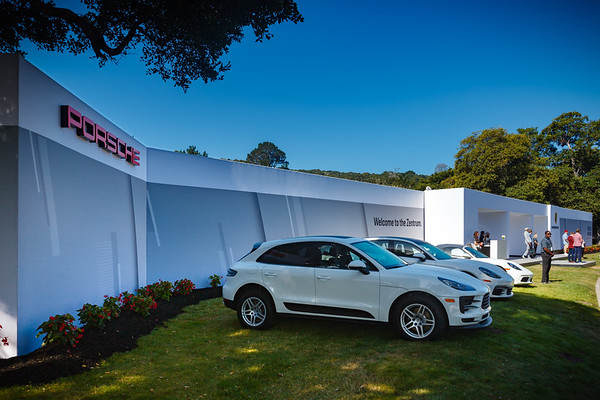 Porsche pavilion is something one can check out instead of waiting in line to enter the event...