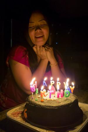 Tonight we are celebrating Joana's birthday