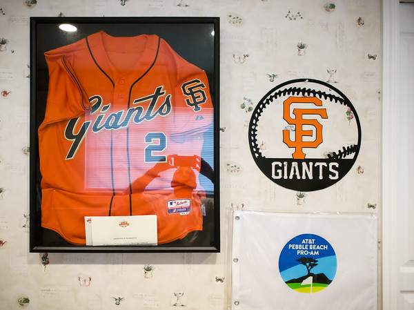 Valerie and I arrive at Joana and Mike's house in Concord and they show us to our room.  Suddenly I remember how Mike is a huge Giants fan