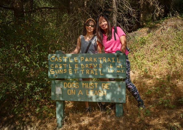 DAY 3 - This morning, Mike drives us to Joaquin Miller Park near Oakland so we can hike the trails