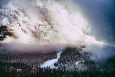 Cloud Afire on Whistler Mountain