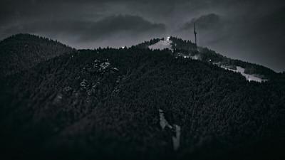 Nighttime on Grouse Mountain
