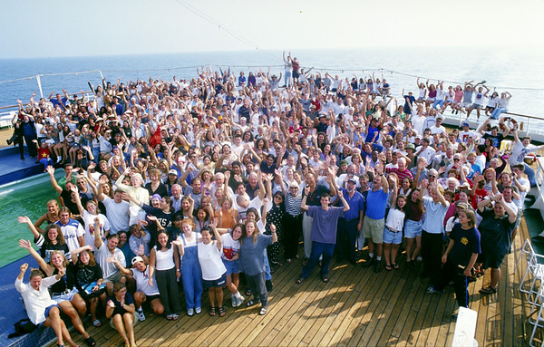 Students on the SS UNIVERSE EXPLORER<br /> Photographs by  photo instructor Cliff Grassmick of the Spring 1997 Semester at Sea  voyage around the world.