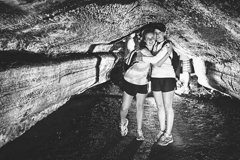 Inside the lava tunnel on Santa Cruz Island.