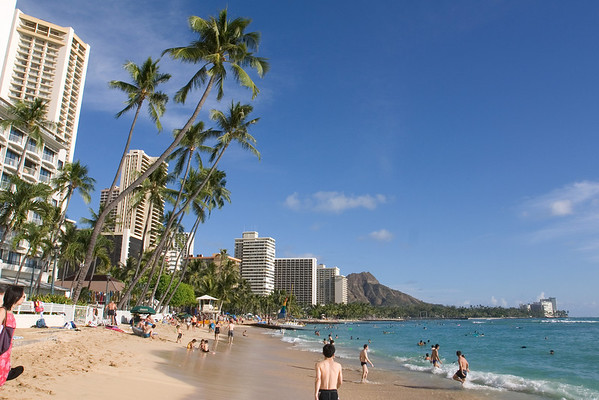 DAY 1 - This is Valerie and my first time stepping on the sands of Waikiki