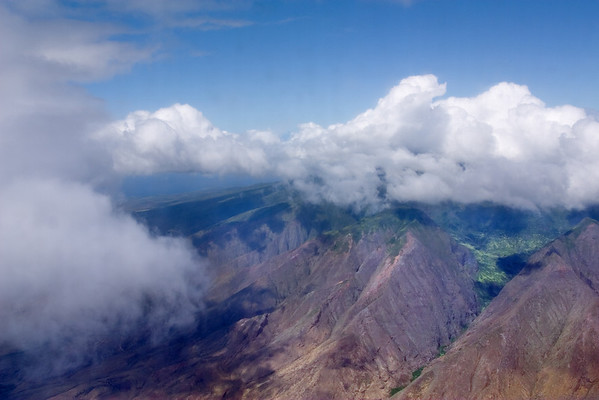 Now we're looking towards the West Maui Volcano