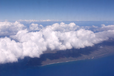 DAY 1 - Just minutes after leaving Oahu, we spot the western tip Molokai