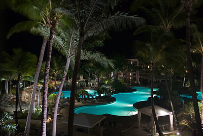 Here's the garden view at night