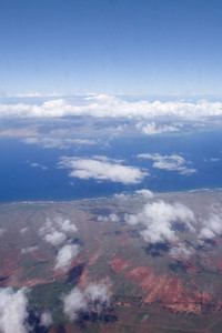 And not long after that, we're over Lanai