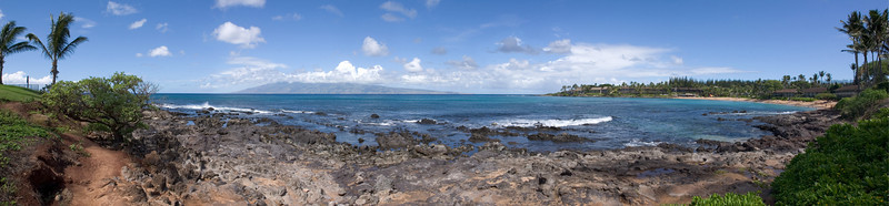 For breakfast, we head down to the shores of Napili Bay...
