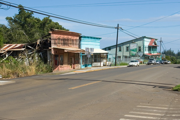 Some of the buildings in this quaint town on the northern tip of the island look a little run down